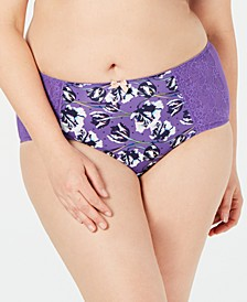 Chi Chi Plus Size Lace-Panel Brief 7692