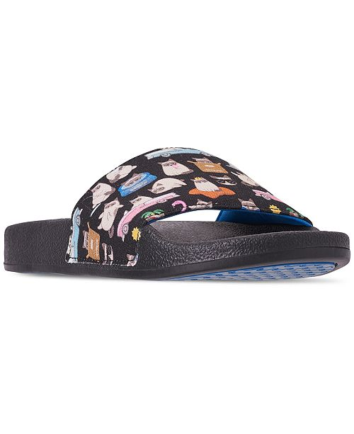Skechers Women's BOBS Pop Ups - Blah-Cation Bobs for Dogs and Cats Slide Sandals from Finish Line