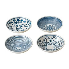 Crafted by Royal Doulton Blue Love Bowl, Set of 4