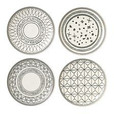 "Crafted by Royal Doulton Charcoal Grey 6"" Plates, Set of 4"