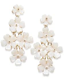 I.N.C. Gold-Tone Flower Kite Drop Earrings, Created for Macy's