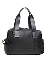6b1af0952e8d2 Storksak Kym Leather Diaper Bag