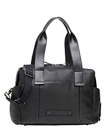 Storksak Kym Leather Diaper Bag