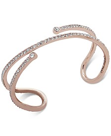 Anne Klein Gold-Tone Crystal Open Cuff Bracelet