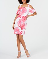e518ee5940b27 I.N.C. Printed Cold-Shoulder Dress, Created for Macy's
