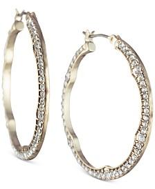 Jenny Packham Gold-Tone Pavé Small Hoop Earrings