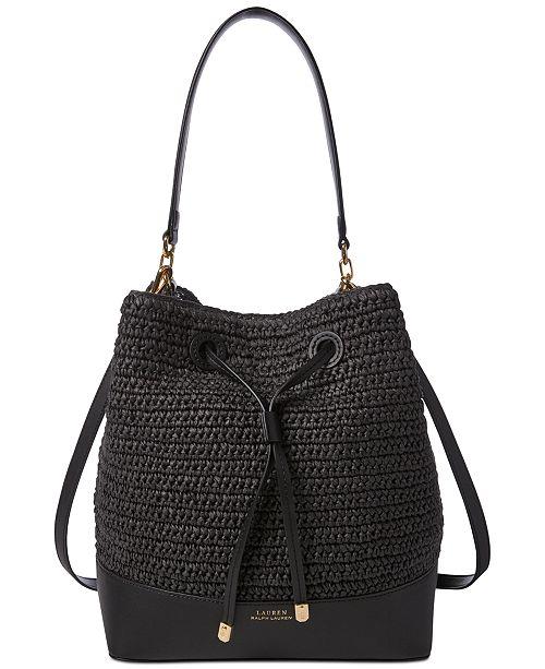7b34c3834f0ce Lauren Ralph Lauren Dryden Debby Straw Drawstring Bag & Reviews ...