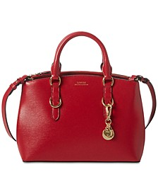 Bennington Mini Zip Saffiano Leather Satchel