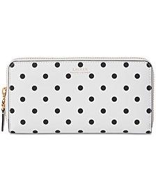Lauren Ralph Lauren Dryden Polka Dot Leather Wallet