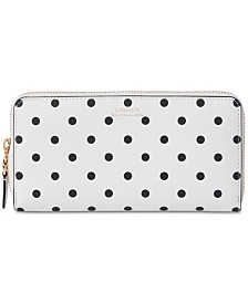Lauren Ralph Lauren Dryden Polka Dot Leather Wallet