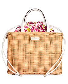 kate spade new york Woven Sam Small Straw Satchel