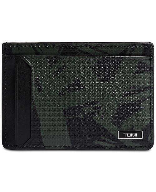 Tumi Men's Moncao Printed Leather Money Clip Card Case