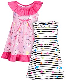 Blueberi Boulevard Baby Girls Heart and Lollipop 2-oack Dresses