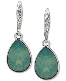 Givenchy Crystal & Stone Medium Drop Earrings