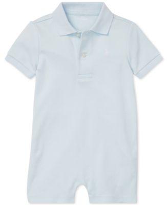 폴로 랄프로렌 Polo Ralph Lauren Baby Boys Cotton Interlock Polo Shortall,Beryl Blue