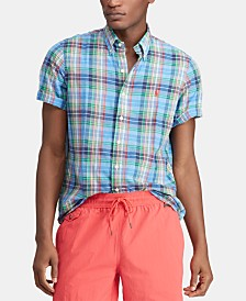 Polo Ralph Lauren Men's Classic-Fit Madras Shirt