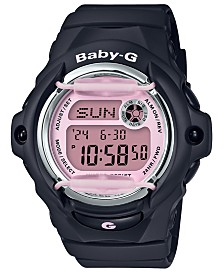 Baby-G Women's Digital Black Resin Strap Watch 42.6mm