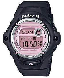 Baby-G Women's Digital Black Resin Strap Watch 42.6mm