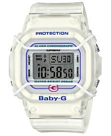 Baby-G Women's Digital Original White Resin Strap Watch 40mm