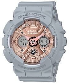 Baby-G Women's Analog-Digital Gray Resin Strap Watch 45.9mm