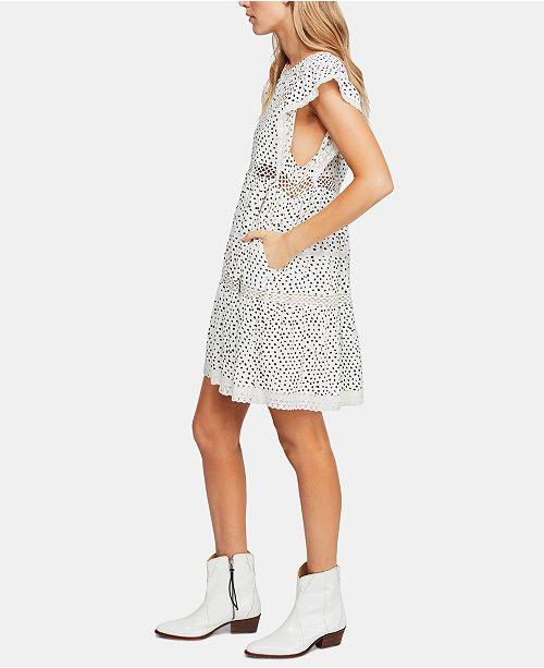 fa46ef18941b Free People Retro Kitty Crochet-Trim Dress & Reviews - Dresses ...