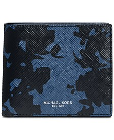 Michael Kors Men's Harrison Floral Leather Wallet