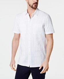 Tasso Elba Men's Stripe Knit Shirt, Created for Macy's