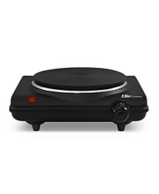 Elite Cuisine Single Cast Electric Burner Hot Plate