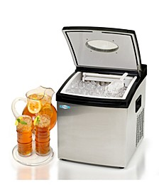 Mr. Freeze Portable Clear Ice Maker in Stainless Steel