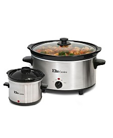 Elite Cuisine 5 Quart Slow Cooker with Mini Dipper