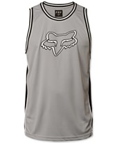 a8e37a8a8cd85c Fox Men s Basketball Logo-Appliqué Mesh Tank