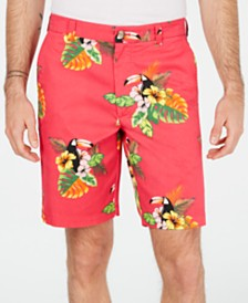 "Club Room Men's Toucan Graphic 9"" Shorts, Created for Macy's"