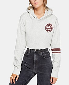 Baldwin Cropped Graphic Hoodie