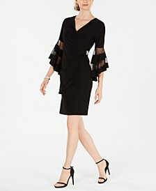 Rhinestone Faux-Wrap Dress