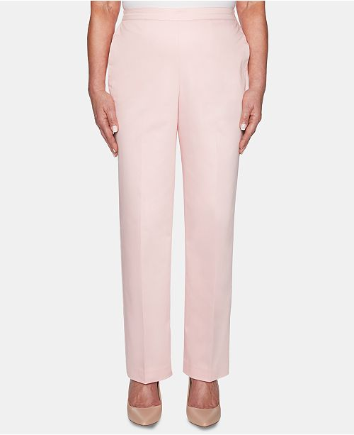 Alfred Dunner Petite Society Pages Pull-On Pants