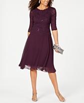 28b1d032bd Alex Evenings Sequined Lace Contrast Dress