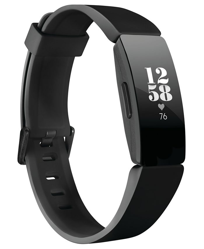 Fitbit - Inspire HR Black Silicone Strap Activity Tracker 16.4mmmm