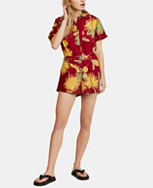 Free People Malibu Cotton Printed Romper