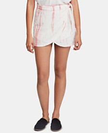 Free People Ann Reed Tie-Dye Wrap Skirt