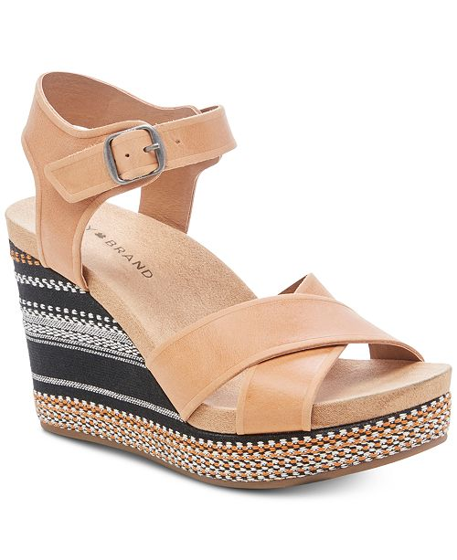 Lucky Brand Women's Yarosan Wedge Sandals
