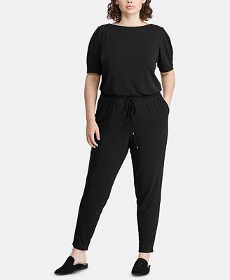 Lauren Ralph Lauren Plus Size Jersey Jumpsuit