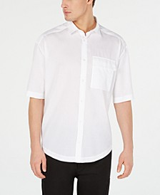 HUGO Men's Oversized Woven Shirt