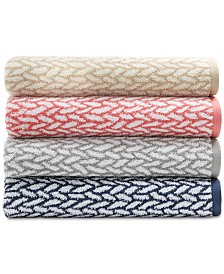 Lauren Ralph Lauren Sanders  Antimicrobial Basket Weave Bath Towel Collection