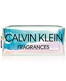 Receive a Complimentary Holographic Pouch with any large spray purchase from the Calvin Klein Women's fragrance collection
