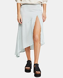 Lola Slit Ruffled Midi Skirt