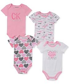 Calvin Klein Baby Girls 4-Pk. Printed Bodysuits
