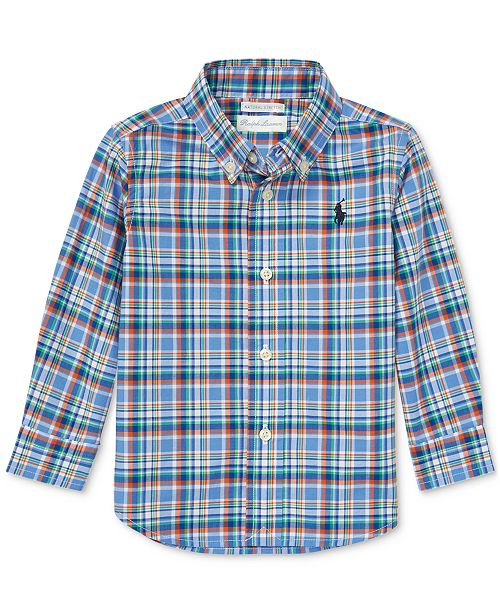 c1ef87281 Polo Ralph Lauren Baby Boys Plaid Cotton Poplin Shirt   Reviews ...