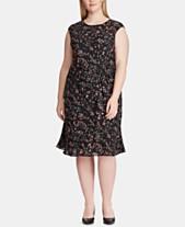 abdc8ee2d7e Lauren Ralph Lauren Plus Size Fit   Flare Dress