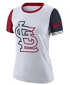Women's St. Louis Cardinals Slub Logo Crew T-Shirt