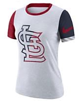 0cd3bdf6acb4 Nike Women s St. Louis Cardinals Slub Logo Crew T-Shirt